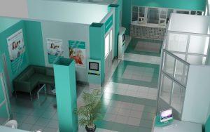 Проект интерьера банка