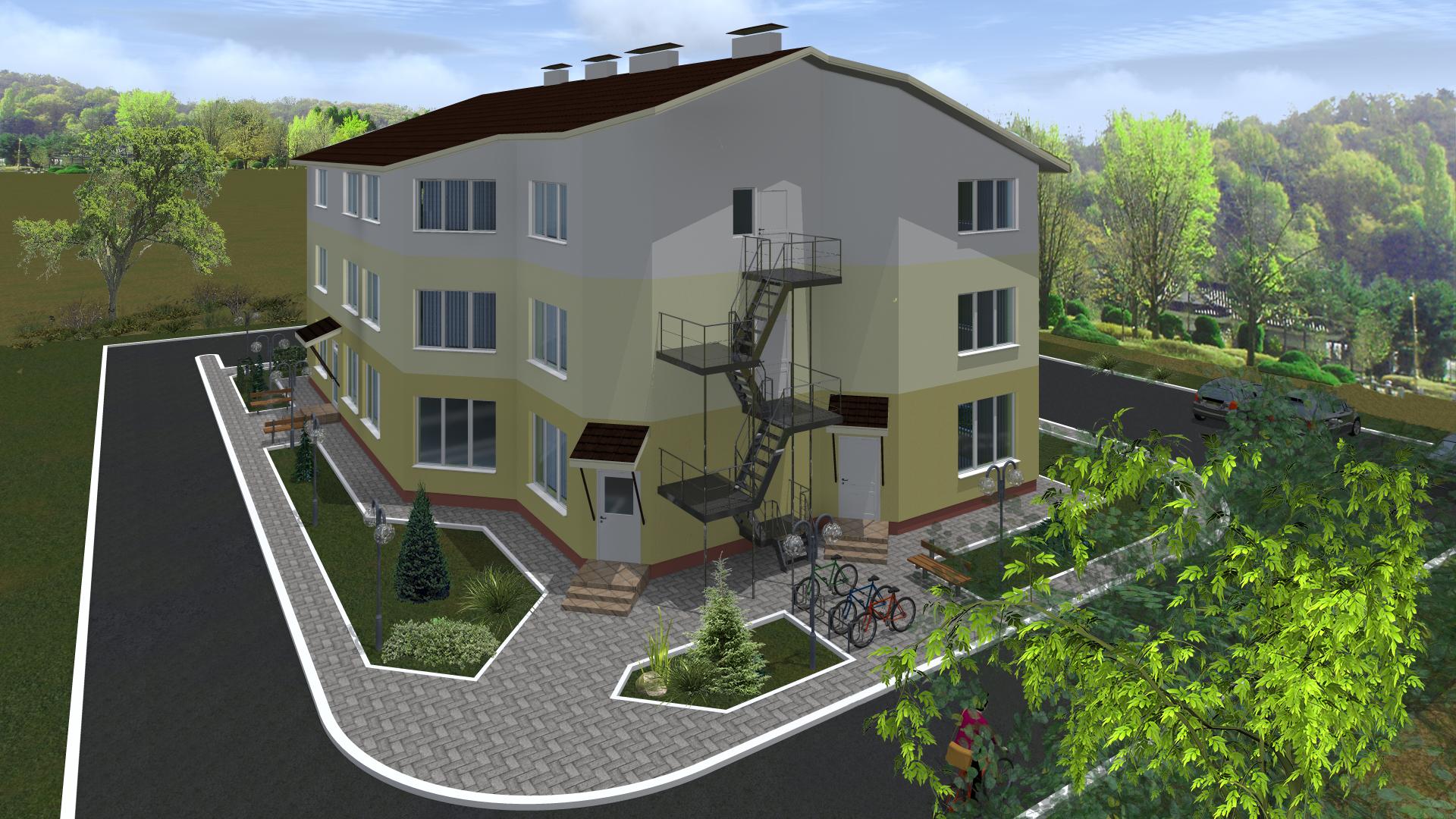 Административное здание. Деревня Ямно (Брестский район)